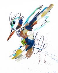 Ash Almonte: Blue Tan Golden Hummingbird