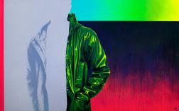 Sebastian Riffo Montenegro: Raincoat Green II