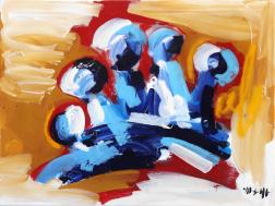 Ash Almonte: Blue Red Tan Crown