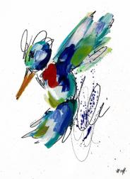 Ash Almonte: Red Bow Tie Hummingbird