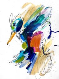 Ash Almonte: Orange Hummingbird
