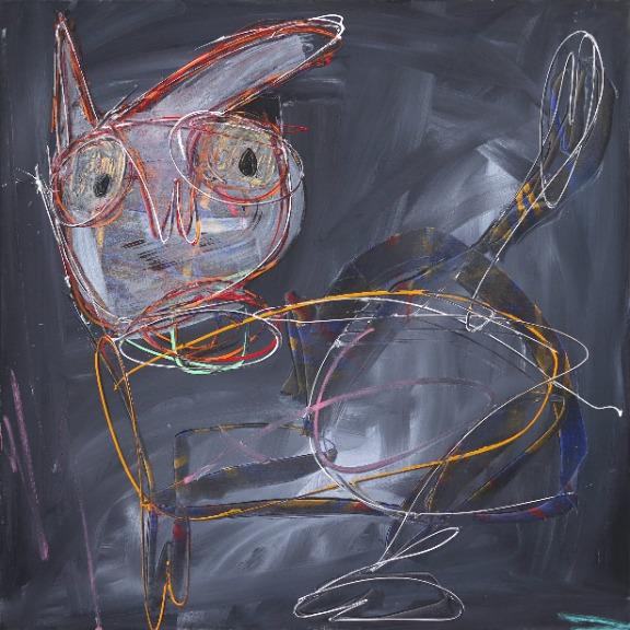 Kodjovi Olympio: Untitled Deep Grey Figure 1