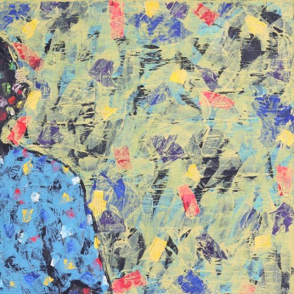 Emeka Udemba: Figure In Yellow Landscape No. 5