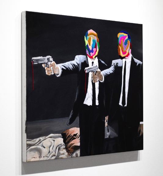 Iqi Qoror: Pulp Fiction (After Banksy)